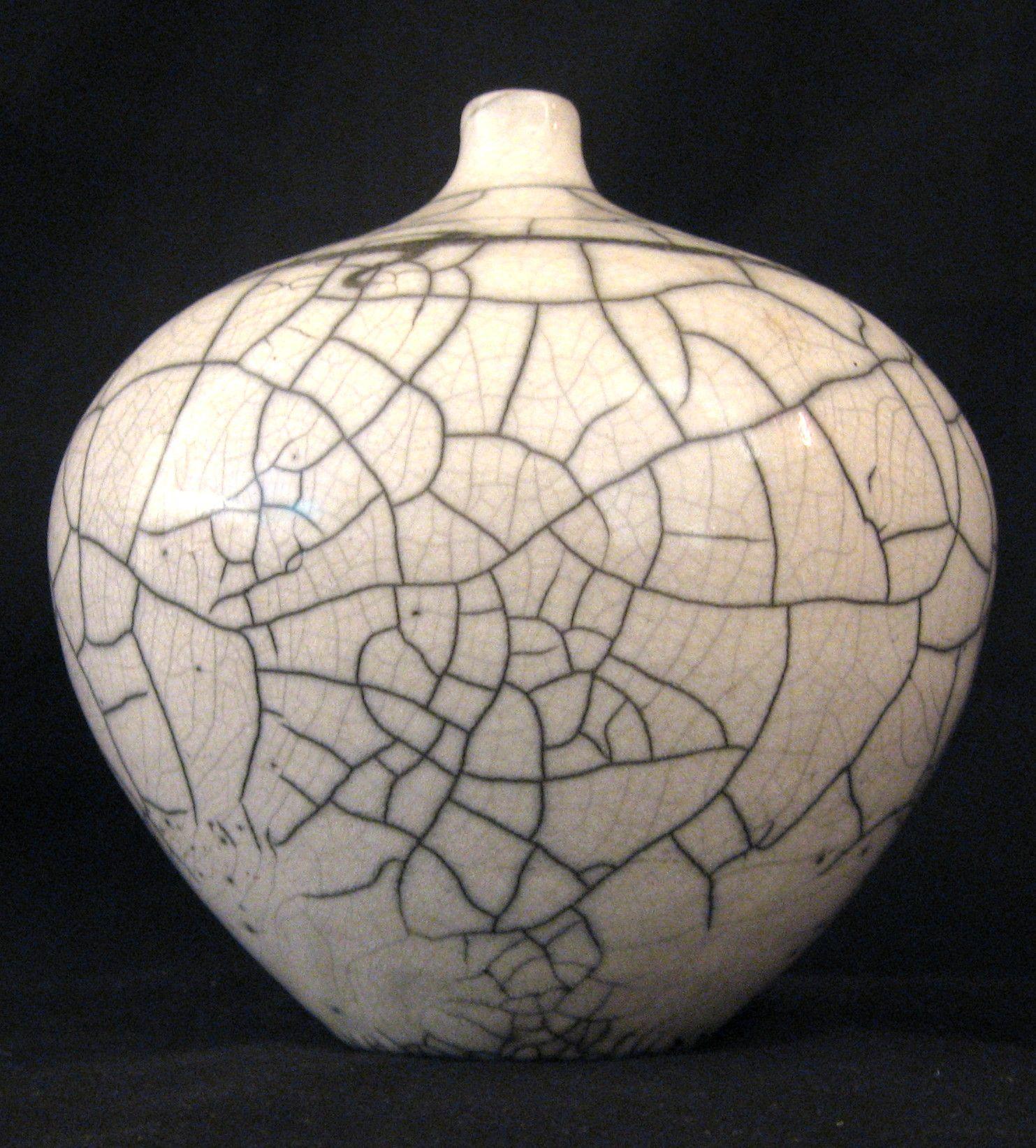 Raku Crackle Glaze Artist Unknown Raku Ceramic Pottery Pottery Ceramic Art