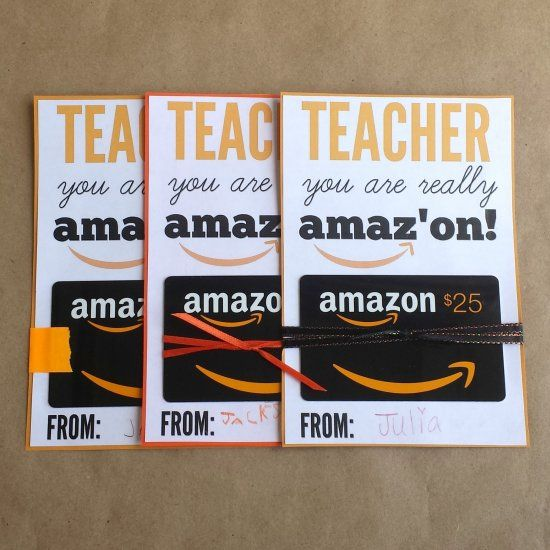 Cute printable to go with an Amazon gift card. Great teacher gift ...