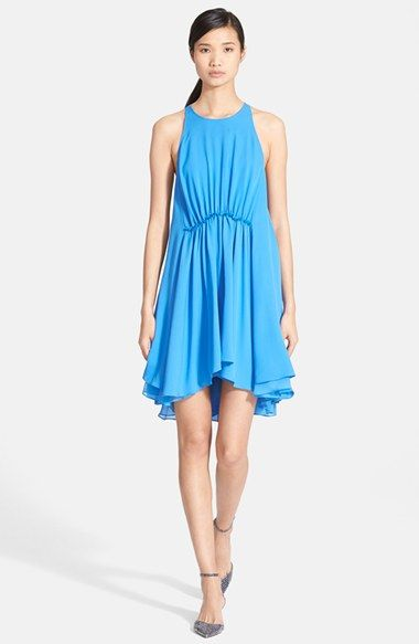 3 1 Phillip Lim Gathered Waist Silk Dress Available At Nordstrom