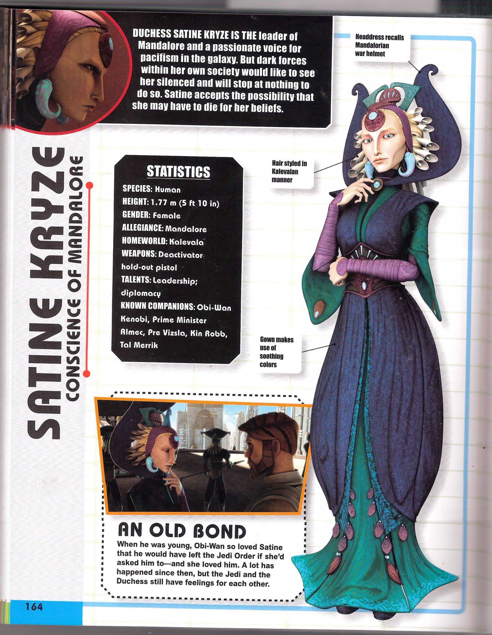 The Clone Wars:Character Encyclopedia - The Duchess of Kalevala- A Duchess Satine Fansite