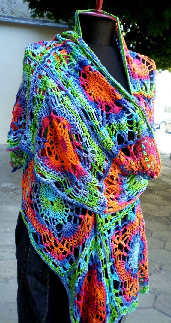 Pin von Micheline Ramaekers auf sjaal haken | Pinterest | Tücher ...
