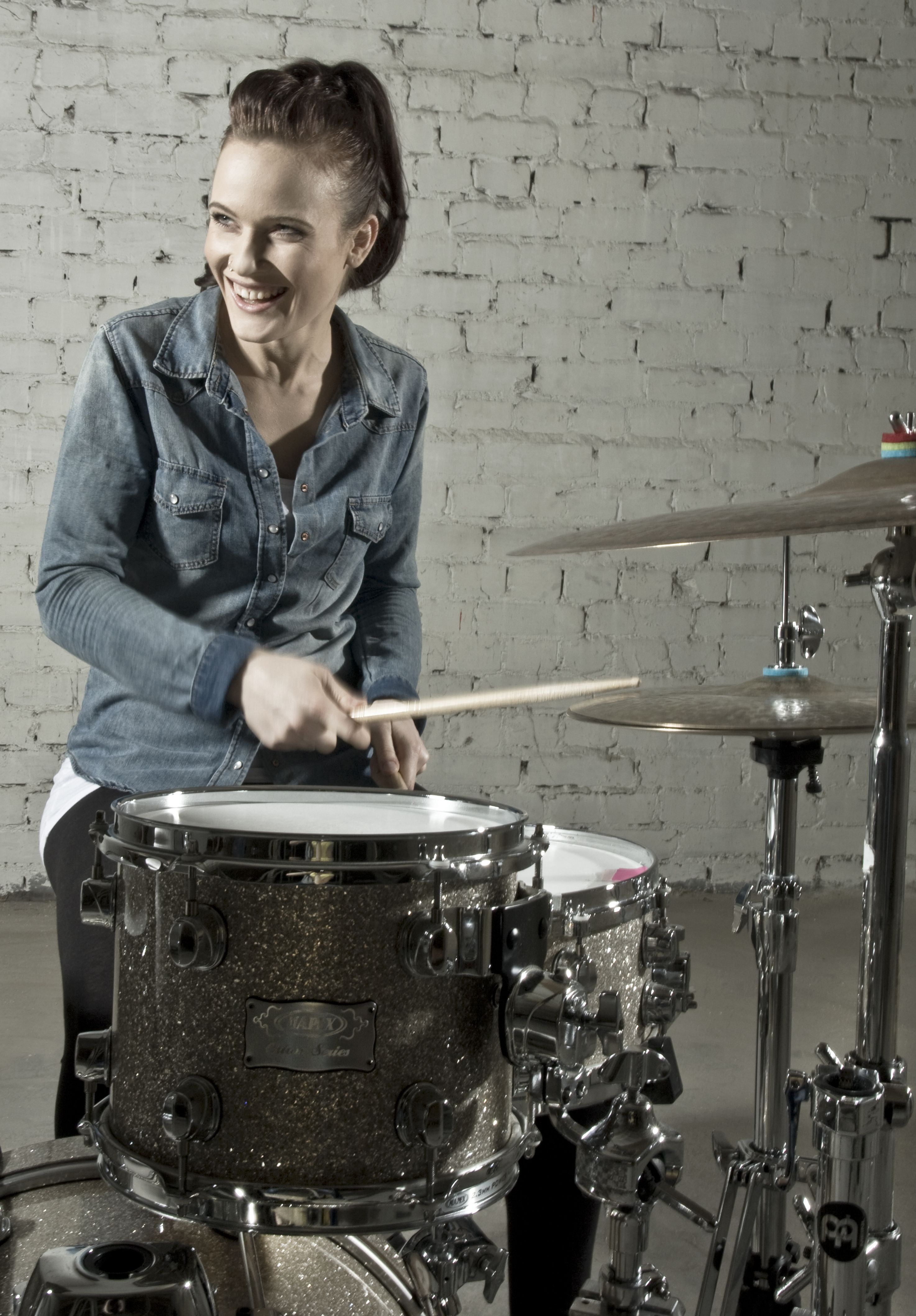 Anika Nilles, I love her style. Such a great drummer. Love ...