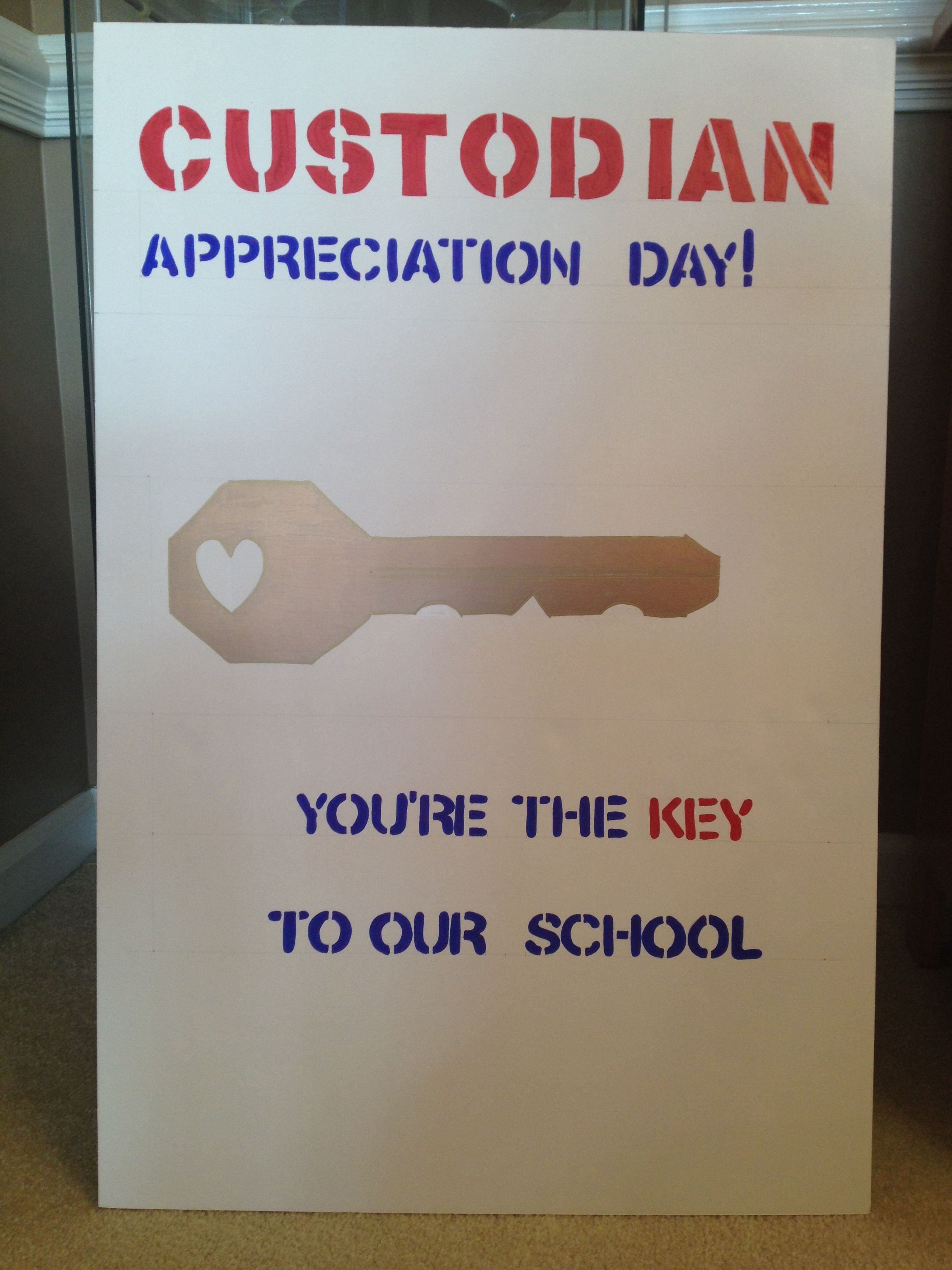 Custodian Appreciation Day Poster Custodian Appreciation