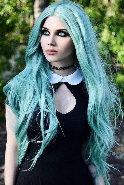 Dayana Crunk Melgares  Makeup Ideas Gothic  Goth Hair -4115