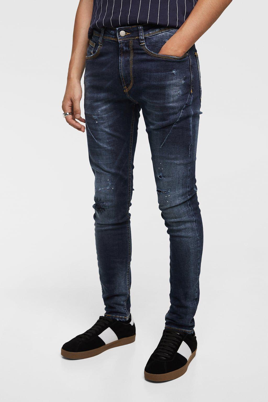 Denim Skinny Pinzas Disponible En Mas Colores Ropa Casual Hombres Ropa Casual Hombre Maduro Jeans Para Hombre