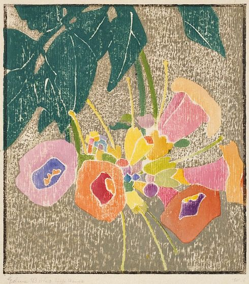 Edna Boies Hopkins Trumpet Vine 1916 #floral #botanical #art