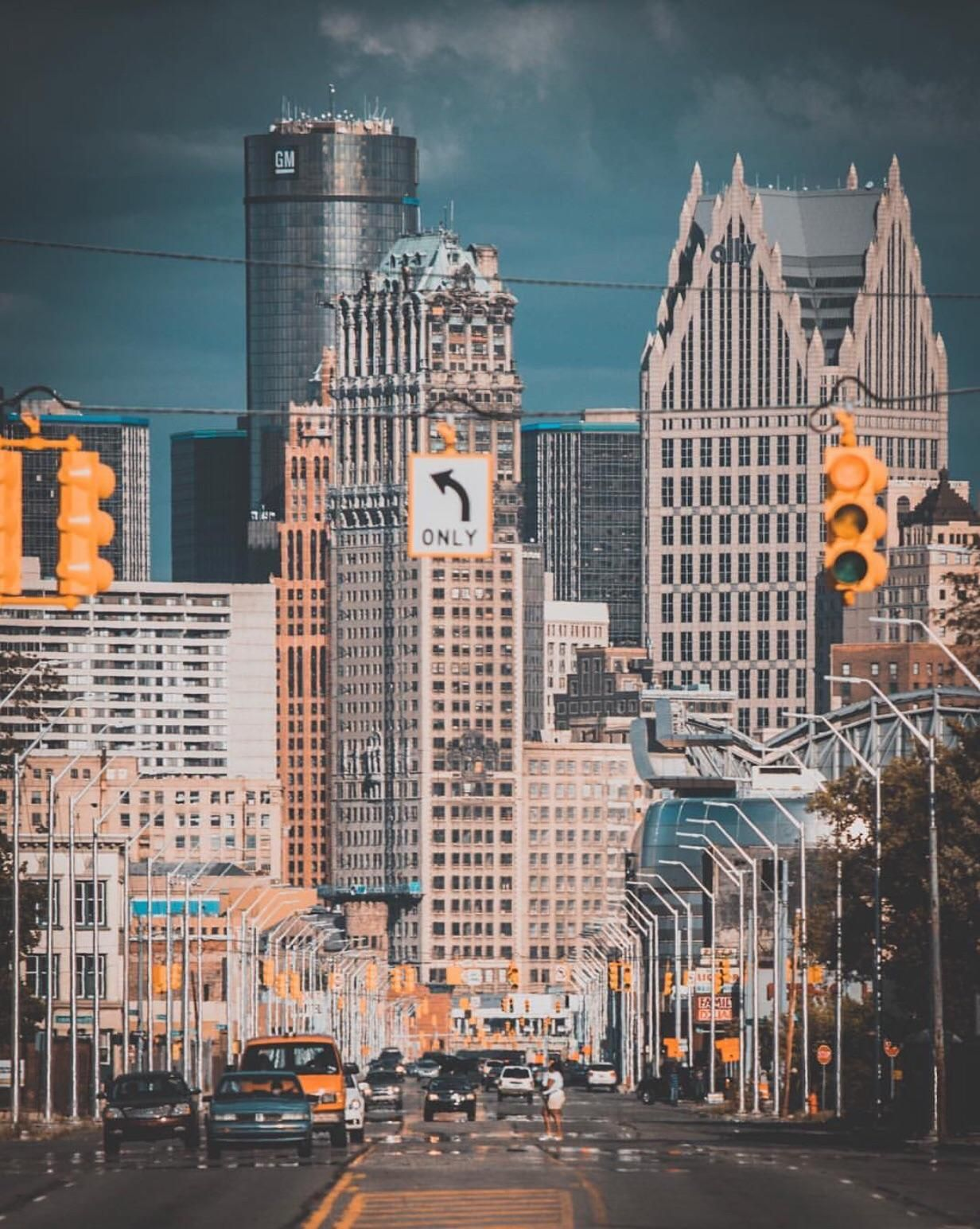 Detroit Michigan City Cities Buildings Photography Detroit Skyline Michigan Photography Detroit City