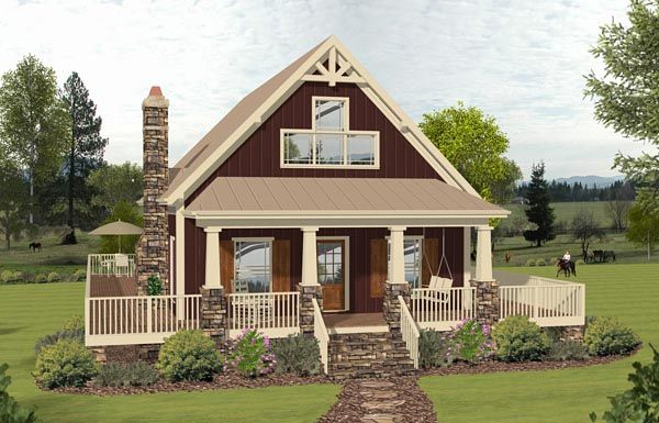 Cottage Country Southern House Plan 74847 Elevation OTTO HOUSES