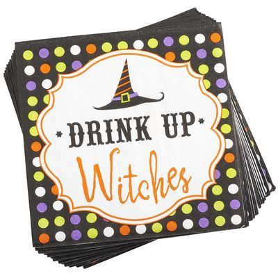 """Drink Up Witches"" Cocktail Napkins"