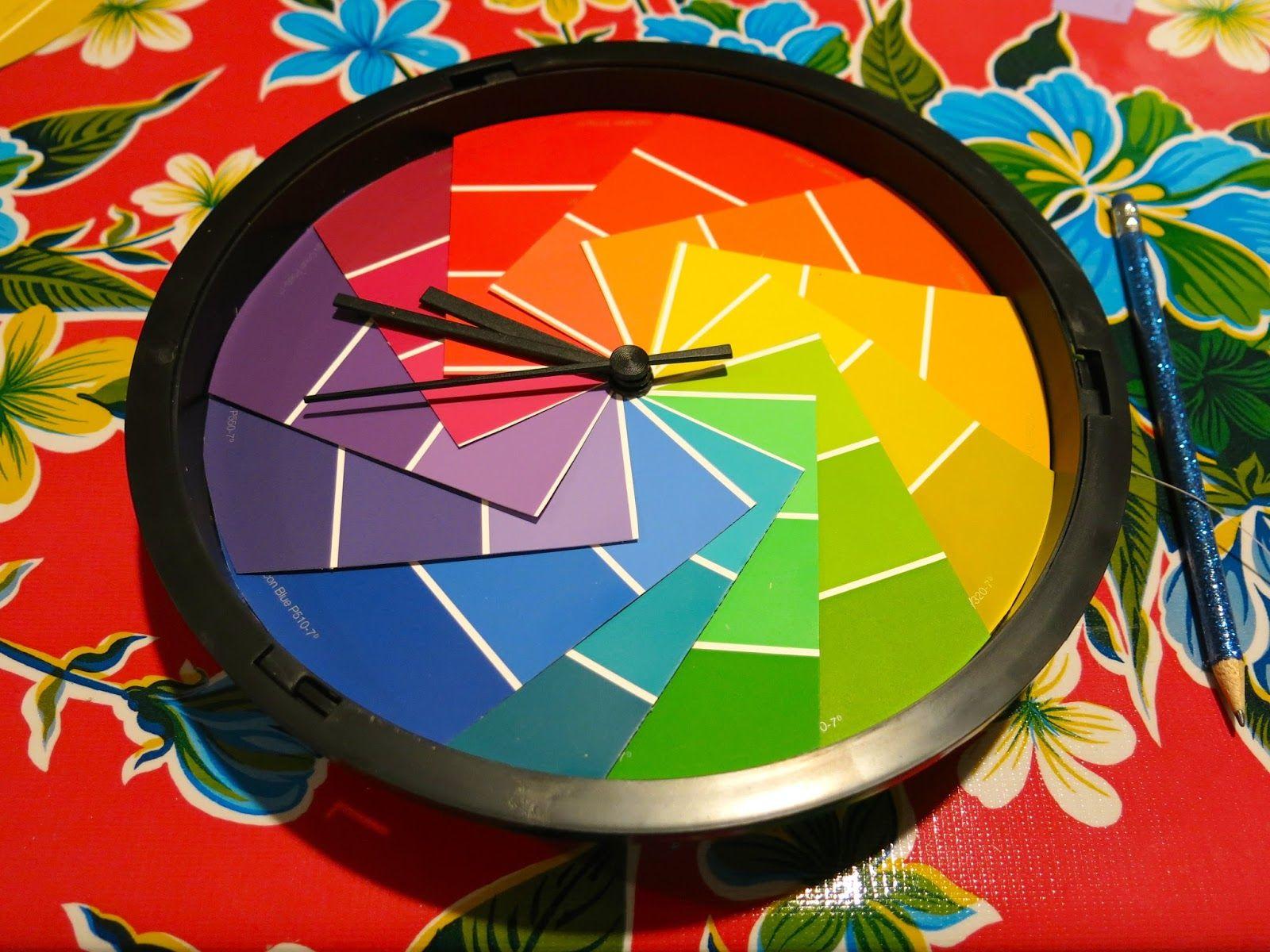 Diy A Color Wheel Clock Art Room Posters Color Wheel Projects Wheel Clock