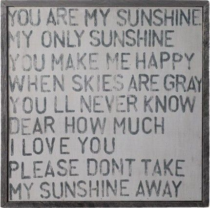 you are my sunshine wall art eclectic artwork
