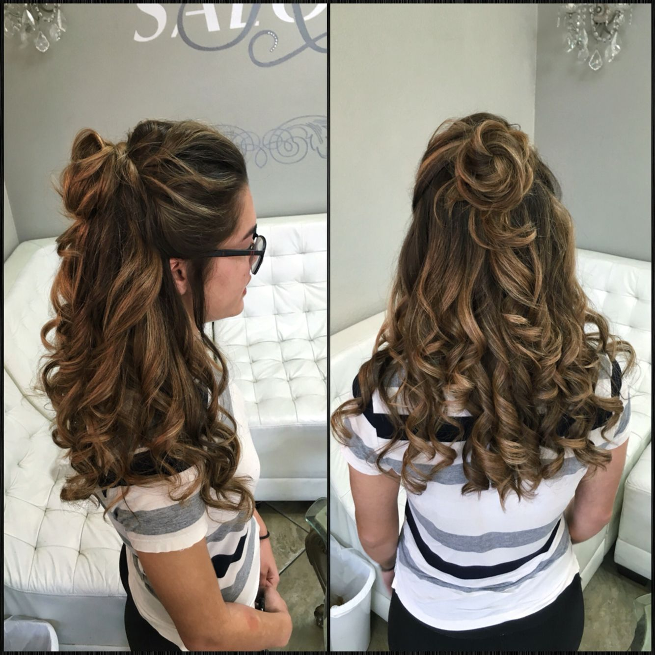 Half Up Half Down Bun Prom Hair Long Hair Styles Homecoming Hairstyles