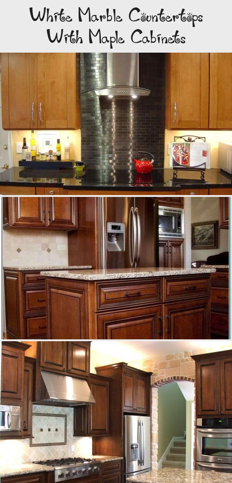 White Marble Countertops With Maple Cabinets | Maple ... on Maple Cabinets With White Granite Countertops  id=71533