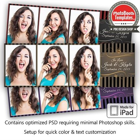 Black Tie Event Postcard Ipad Photo Booth Template Photo Booth