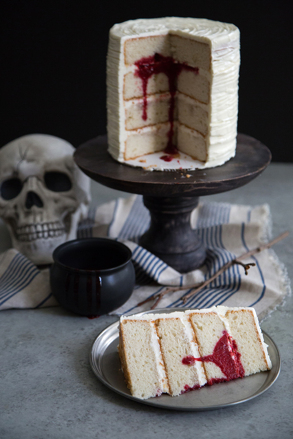 Surprise Bloody Cake (Vanilla Cake wtih Raspberry)- The Little Epicurean