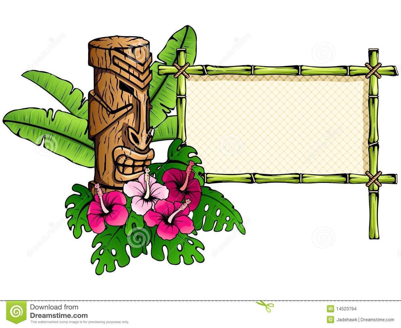hawaiian tiki clip art borders clipart panda free clipart images rh pinterest com hawaiian clip art free printables hawaiian clip art free
