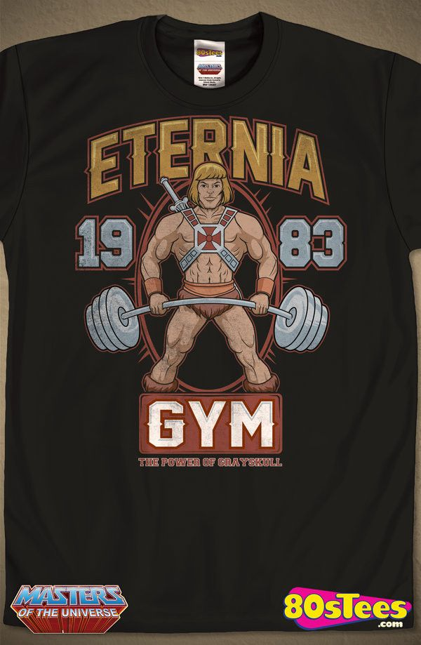 Grayskull Gym inspired but the masters of the universe 1980/'s TV He Man T-Shirt