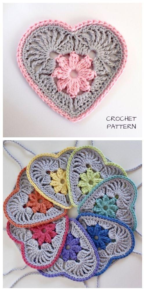 Heart in Bloom Motif Square Crochet Pattern – Carola