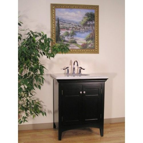 """BC082-4 30"""" Sink Vanity -- A truly American design this wood vanity cabinet with clean vertical lines of this style allow the piece to work beautifully with nearly any type of décor, from antique traditional to minimalist modern."""