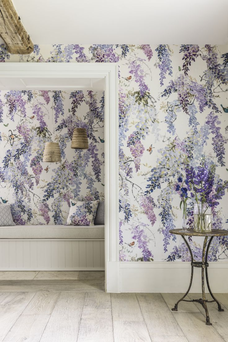Sanderson Wisteria Falls Wallpaper Inspired By Country Gardens This Elegant New Wallpaper