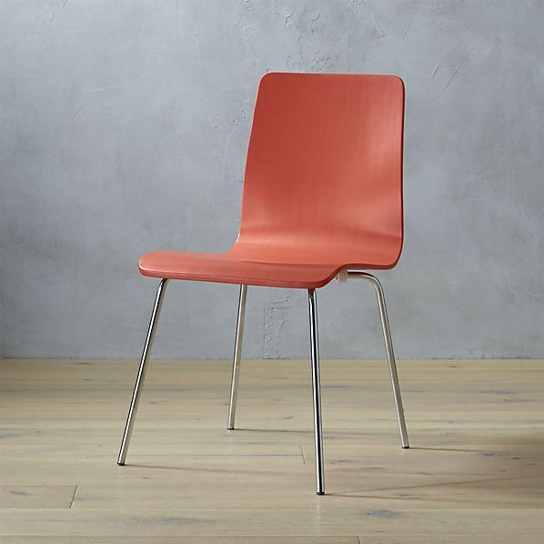 Ideal Ii Orange Chair Dining Room Furniture Modern Chair Orange Chair