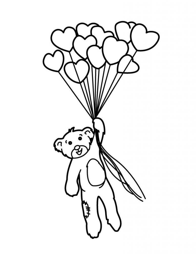Balloon Coloring Pages Best Coloring Pages For Kids Valentines Day Coloring Page Teddy Bear Coloring Pages Bear Coloring Pages