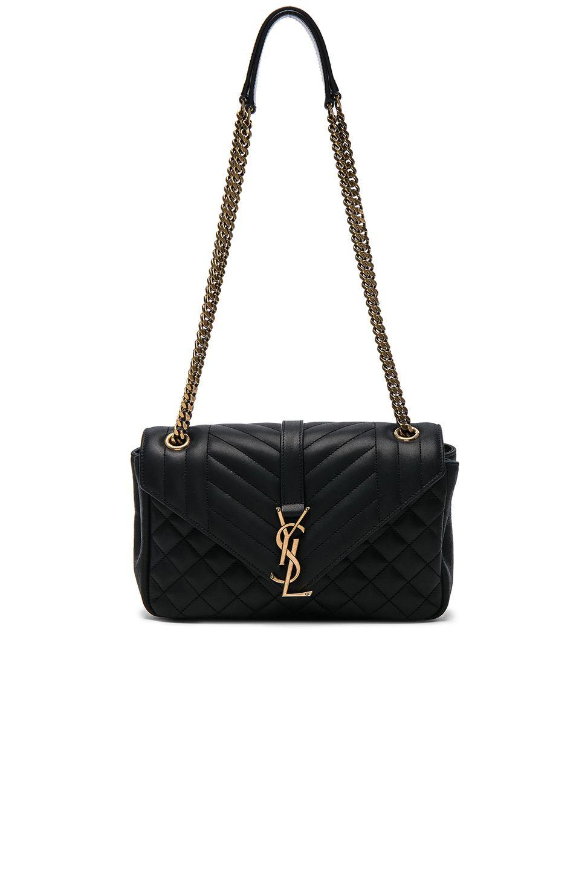 69e3d7fa37 SAINT LAURENT Medium Nubuck Envelope Chain Bag.  saintlaurent  bags   shoulder bags
