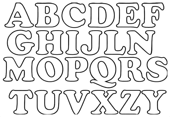 moldes de letras para imprimir pdf.png | letra moldem | Pinterest ...