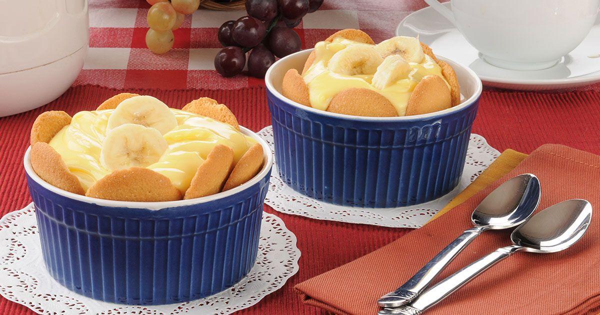 حلى الكاسترد بالبسكويت Recipe Banana Pudding Easy Desserts Easy Banana Pudding