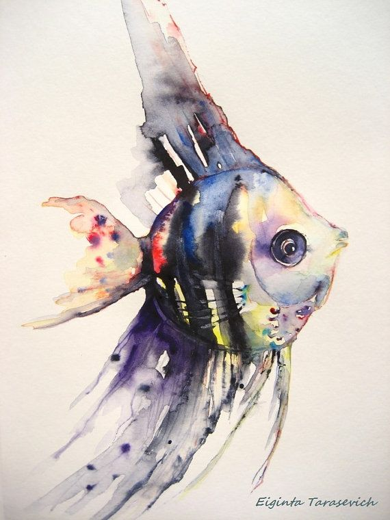 Angelfish The Original Watercolor Painting Watercolor