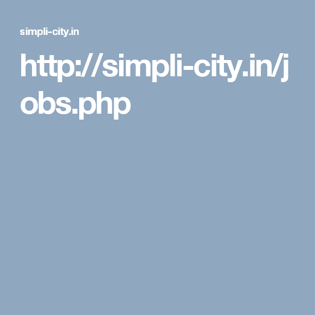 Latest jobs detail about Coimbatore. Search for any jobs for fresher and experienced on Simplicity.