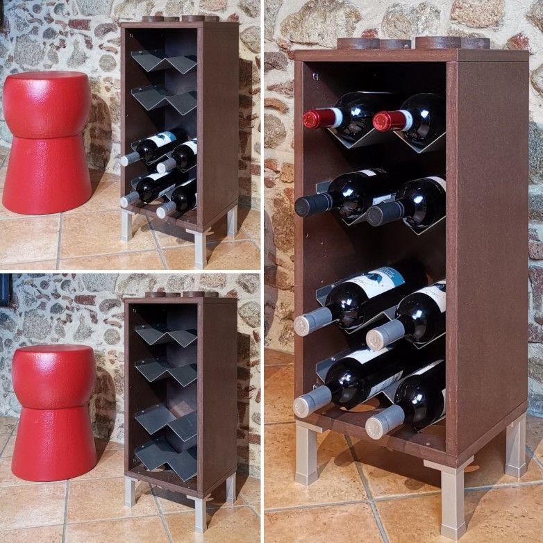 🇮🇹 Wooden wine rack, by Cool Art design | Portabottiglie ...