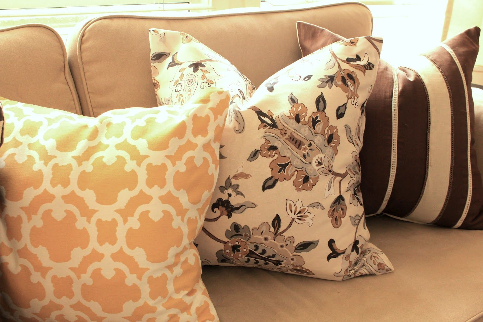 Make Throw Pillow Cover Without Sewing : Cup Half Full: DIY - No Sew Throw Pillows For the Home ...
