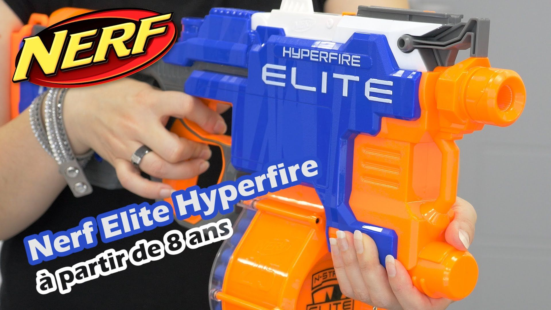 Automatic Nerf Gun for Small Kids. The Elite HyperFire ...