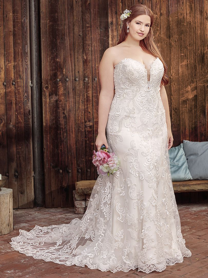 Wedding dresses for curvy brides  Be Loved by Casablanca Wedding Dress  Fave wedding dresses