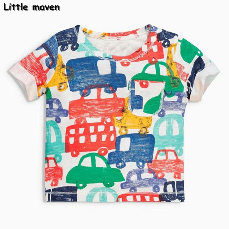 8c76b1608b6 Awesome Little maven brand children clothing 2017 new summer baby boy  clothes short sleeve t shirt Cotton car print tee tops 50704 -  22.74 - Buy  it Now!