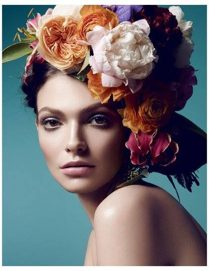 flower head piece lovely