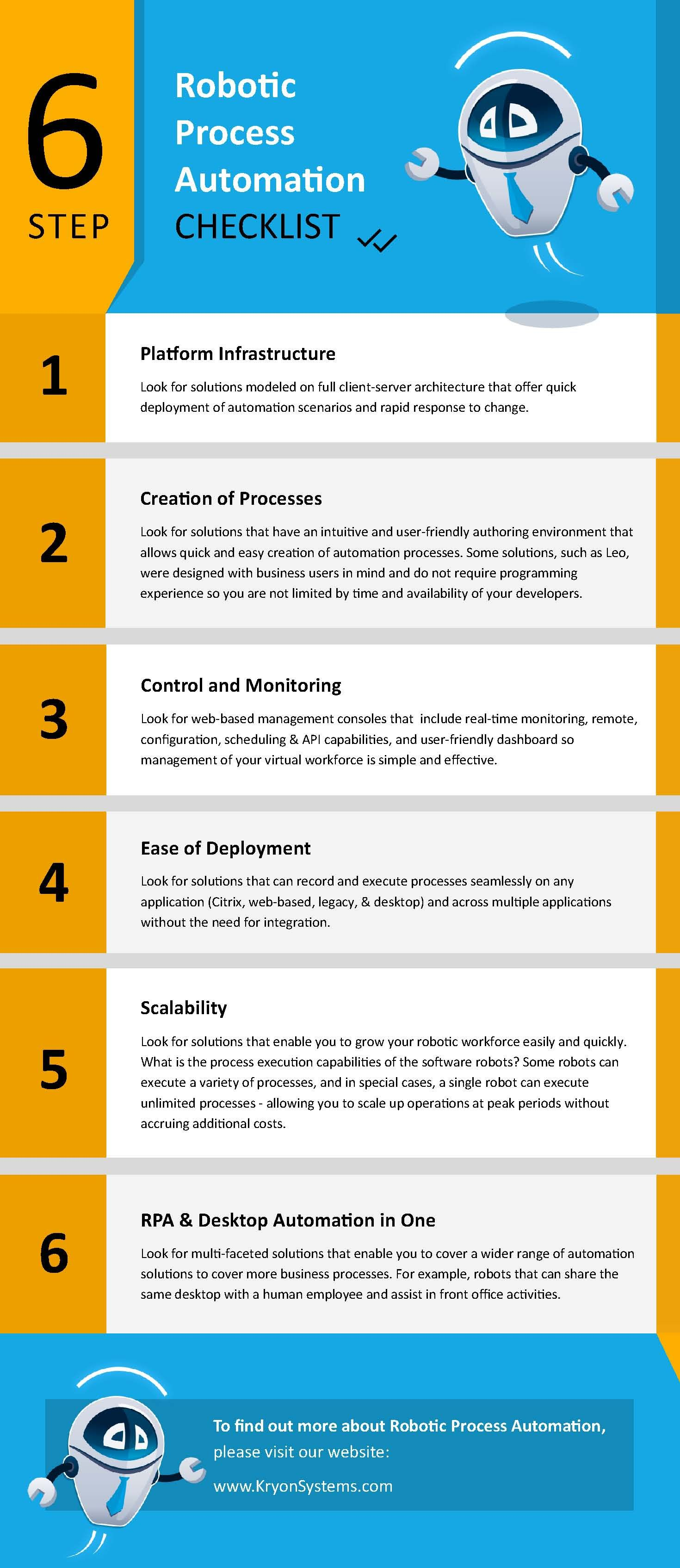 Rpa Checklist Full Png Automation Robotic Automation Solutions