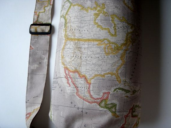 Xl yoga mat bag world map handmade babiminis yoga mat bag yoga xl yoga mat bag world map handmade babiminis by babiminis gumiabroncs Gallery