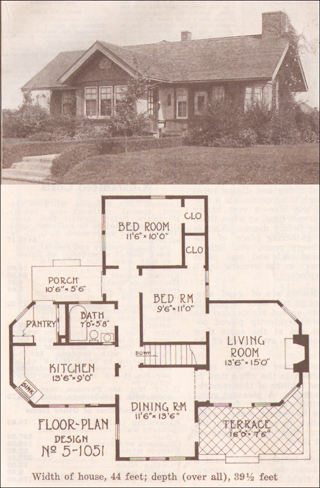 1915 Arts Crafts Cottage Hewitt Lea Funck Company Low Pitched Gabled Roof House Plans With Pictures Small House Inspiration Vintage House Plans