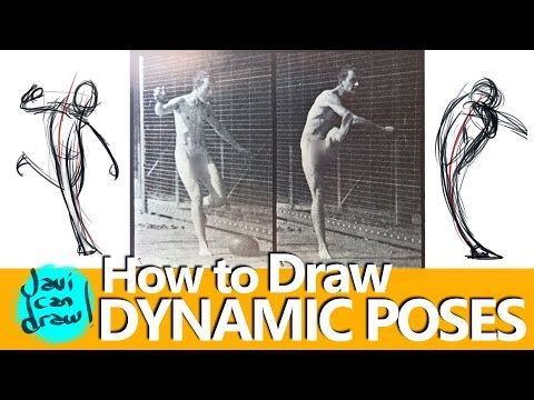 USING REFERENCES TO LEARN HOW TO DRAW ACTION POSES - YouTube