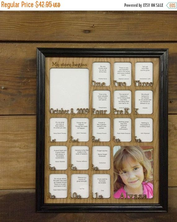 11x14 School Years Birth Thru 12th Grade Picture Frame With Oak