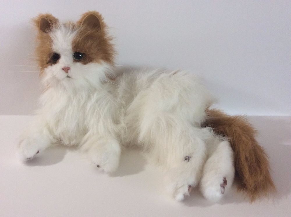 Furreal Friends Cat Battery Operated Plush Stuffed Animal White