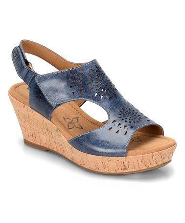 Look at this #zulilyfind! Denim Rainer Leather  Sandal #zulilyfinds