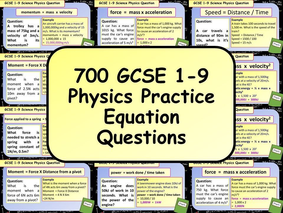700 KS4 GCSE AQA Physics (Science) Equation Practice