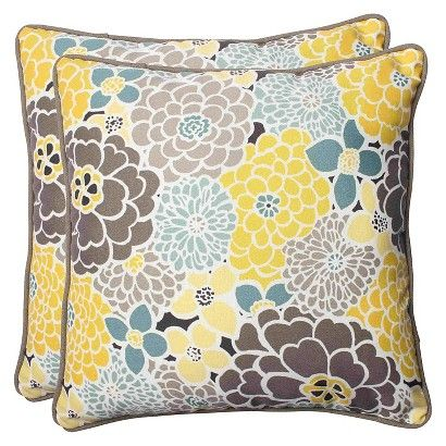 Pillow Perfect ™ 2-Piece Outdoor Square Throw Pillows - Lois