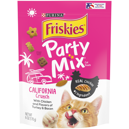 Friskies Cat Treats Party Mix California Crunch With Chicken 6