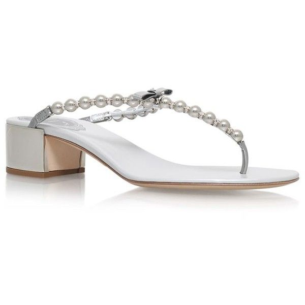 55a259d7d741 René Caovilla Banbury Pearl T-Bar Sandals ( 675) ❤ liked on Polyvore  featuring shoes