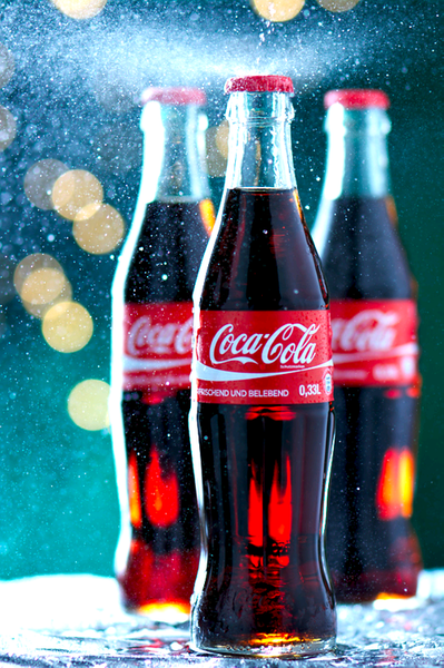 Coca Cola bottles #cocacola #coke #snow