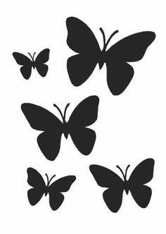 Stencils De Mariposas Para Imprimir Buscar Con Google Dibujos